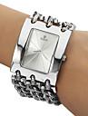 아가씨들 패션 시계 팔찌 시계 석영 스테인레스 스틸 밴드 실버 상표