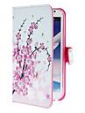 Capinha Para Samsung Galaxy Samsung Galaxy Note Porta-Cartao Com Suporte Flip Estampada Capa Protecao Completa Flor PU Leather para Note 2