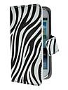 용 삼성 갤럭시 케이스 케이스 커버 카드 홀더 스탠드 플립 패턴 풀 바디 케이스 라인 / 웨이브 인조 가죽 용 Samsung S3 Mini