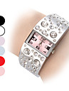 Women\'s Diamond Pattern Dial Steel Band Quartz Analog Bracelet Watch (Assorted Dial Colors) Cool Watches Unique Watches