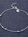 lureme®925 plaque argent sterling boule bracelet brillant