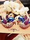 European and American vintage jewelry cute full diamond bird earrings E615