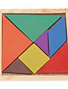 Kid's 7pcs Colorful Board Tangram IQ Puzzle Education Kit Toy