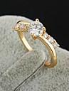 금에 의하여 도금 된 청동 지르콘 반지 J0760