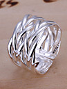 Ring Daily Jewelry Alloy Women Band Rings 1pc,Adjustable Silver