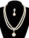Femme Perle Ensemble de bijoux Boucles d\'oreille Colliers decoratif - Pour Mariage Soiree Anniversaire Fiancailles Cadeau