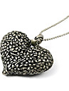 Japan and South Korea retro hollow carved bronze wild peach heart sweater chain N408