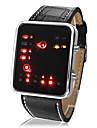 Hommes Montre Bracelet Numerique LED Calendrier Polyurethane Bande Pour tous les jours Cool Noir Marque