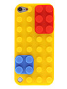 아이팟 터치 5 빨간색과 파란색 제거 가능 캡 디자인 실리콘 방어적인 상자 빌딩 블록