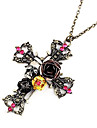 European and American retro skull cross necklace sweater chain N14