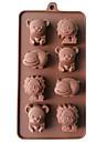 베이킹 몰드 동물 파이 쿠키 케이크 실리콘 DIY 고품질 3D