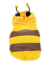 애완 동물 개를위한 후드와 함께 귀여운 꿀벌 의상 따뜻한 솜 패딩 코트 (다양한 크기)