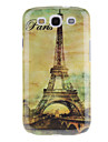 Paris Tour Eiffel Tower Pattern Жесткий чехол для Samsung I9300 Galaxy S3