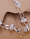 perseguição coração pulseira de prata