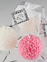 Mini boule de Rose Bougie Favor (blanc)