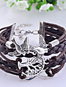 Pánské Kožené náramky Kožené Postříbřené Náramky Šperky Kávová Pro Párty Denní Ležérní