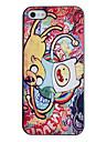 Абстрактная живопись собак Pattern ПК Футляр с черной рамкой для iPhone 5/5S