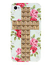 Place Bronze Rivets couvert Croix et Rose cas dur de modèle avec la colle pour l'iPhone 4/4S