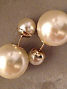 Women's Stud Earrings Pearl Imitation Pearl Gold Pearl Round Jewelry For Wedding Party Daily Casual