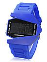 Мужской Армейские часы Наручные часы электронные часы LED LCD Календарь Секундомер тревога Цифровой силиконовый ГруппаЧерный Белый Синий