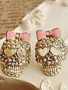 Earring Skull Stud Earrings Jewelry Women Daily / Casual Alloy / Rhinestone