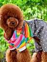 Dog Jumpsuit Dog Clothes Cute Casual/Daily Stripe Orange Costume For Pets