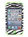 2-in-1 Design Zebra-Stripe Pattern Hard Case with Silicone Soft Inside Cover Pattern Case for iPhone 4/4S (Assorted Colors)
