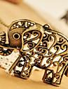 lureme®vintage collier pendentif éléphant creuse