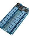 16-Channel 12V Módulo de Relé Board W / Power LM2576 / Optoacoplador Proteção