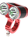 Front Bike Light - 4 Mode 2xcree XM-L T6 2400 Lumens Bicycle Flashlight Rechargeable 4x18650 Battery Cycling Red DARK KNIGHT K2C