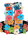 Adjustable PU Leather Plastic Flowers Collar for Pets Dogs/Cats(Assoted Colors,Sizes)