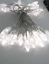 4.5M 3W 30-светодиодный Белый свет светодиодных солнечной полосы света для рождественские украшения