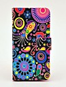Colourful Jellyfish Pattern PU Leather Case with Magnetic Snap and Card Slot for Samsung Galaxy S4 mini I9190