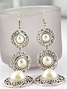Drop Earrings Pearl Imitation Pearl Alloy White Rose Gold Jewelry 2pcs