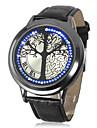 남녀 터치 스크린은 나무 가죽 밴드 손목 시계의 수명을 주도