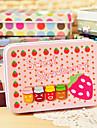 Ορθογώνιο Φράουλα Pattern Tin Box