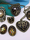 Original Single Authentic Bars Leopard Oval Ring R458