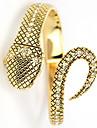 여성의 뱀 Quatz 아날로그 황금 팔찌 손목 시계