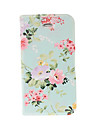 Small Fresh Florals Green Leather Case with Stand for iphone 4/4S