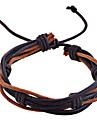 Lureme®Leather Bracelet Lureme Multilayer Knit Bracelet