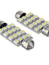 42mm Car Light Bulbs SMD 3528 16 LED Accessories For General Motors