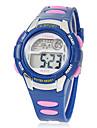 Infantil Multi-Funcional Rodada Dial Rubber Band LCD Digital relógio de pulso (cores sortidas)