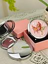 Estilo personalizado regalo de la mariposa Rosa Chrome Espejo compacto