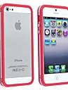 ТПУ чехол Bumper кадров Вт / Металлические Кнопки для iPhone 5/5S (разных цветов)