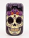 Crânio Flower Pattern Tampa Hard Case Voltar para Samsung Galaxy S3 Mini I8190