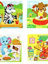 16Pcs/Lot Деревянный головоломки Развивающие игрушки (Random Color)