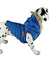 Dog Coat / Hoodie / Vest Blue / Black / Pink Dog Clothes Winter Solid