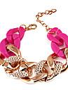 Fashion Twisted Chain & Link Bracelet(Random Color)