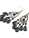 Women\'s Chandelier Drop Earrings - Drop Bohemian Black For Party / Daily