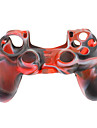Silicone Skin Case for PS4 Controller (Black + White + Red)